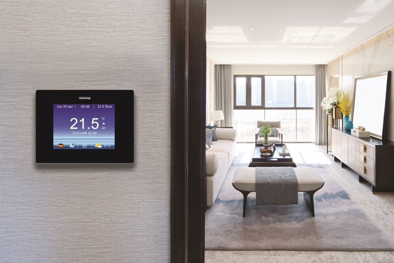 smart thermostat for underfloor heating in your living room