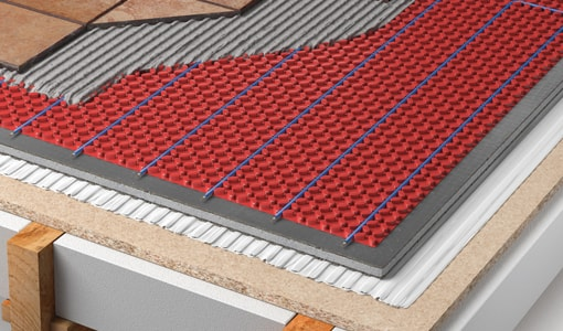 dcm pro heated floor decoupling mat system for tiles warmup