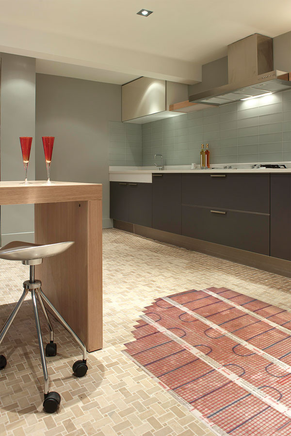 electric underfloor heating kitchen