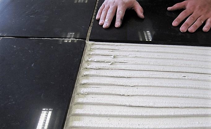 tile adhesive for underfloor heating