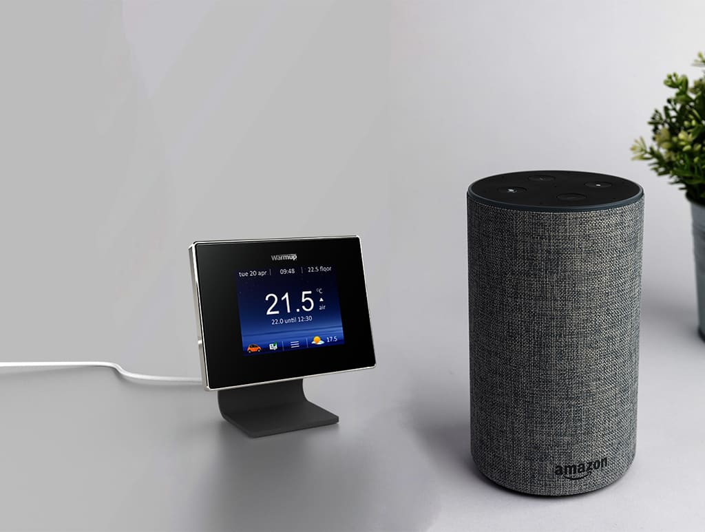 alexa and warmup smart thermostats