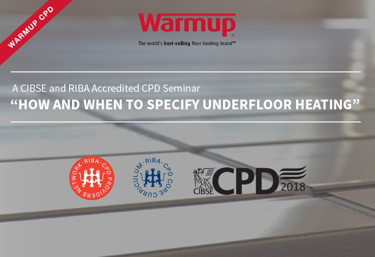 Underfloor Heating CPD Seminar warmup