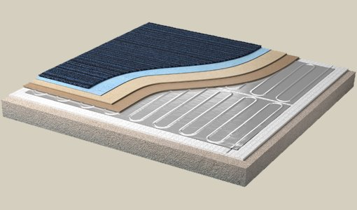 dual overlay underfloor heating warmup