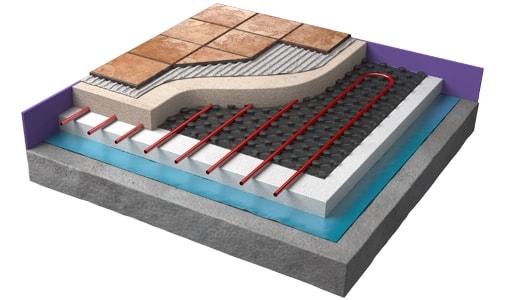 warmup nexxa panel system cutaway