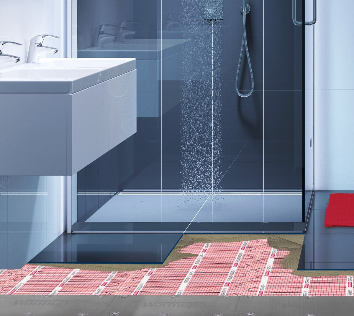 Wet Rooms And Shower Trays With Underfloor Heating Warmup Uk