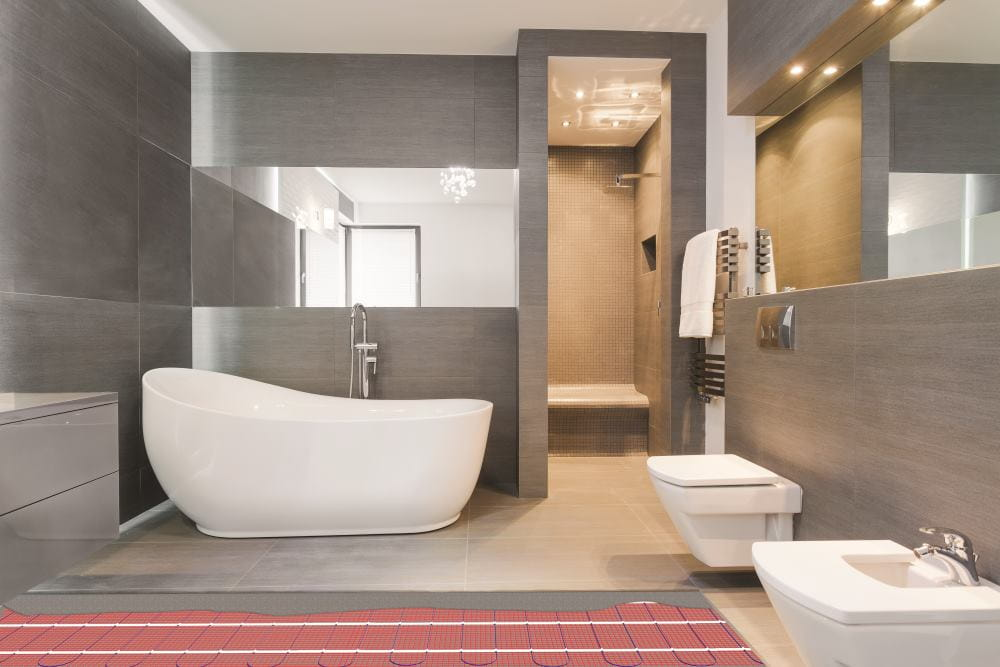 bathroom with underfloor heating in your house