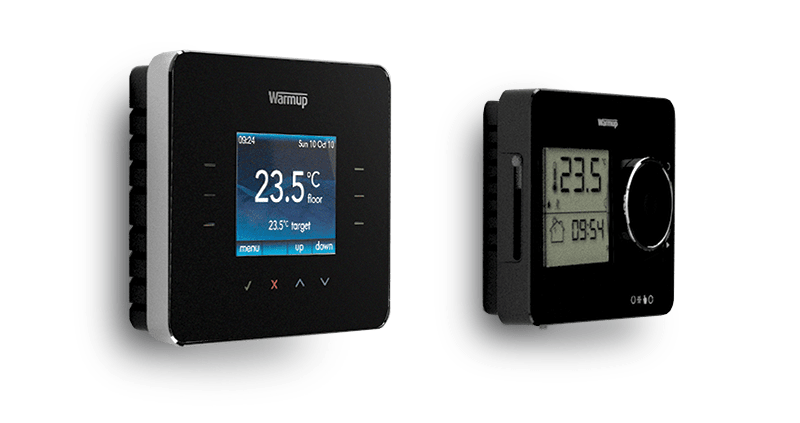 Warmup 3iE And Tempo Programmable Digital Thermostats