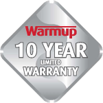 warmup 10 years warranty icon