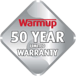 50 year warranty logo